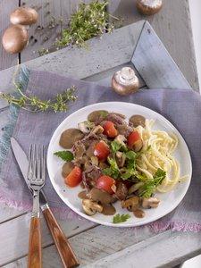 Steakpfanne mit Champignons